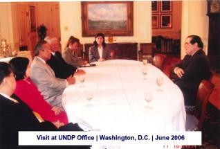 Visit at UNDP Office Washington, D.C. June 2006