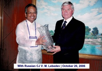 With Russian CJ Lebedev October 20, 2006