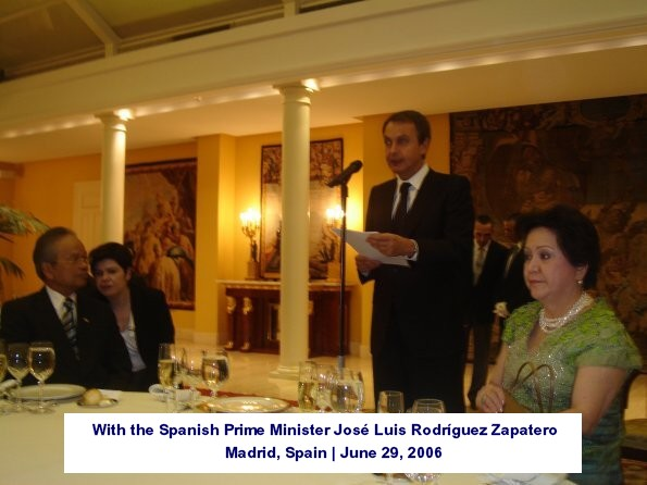 With the Spanish Prime Minister José Luis Rodríguez Zapatero Madrid, Spain June 29, 2006